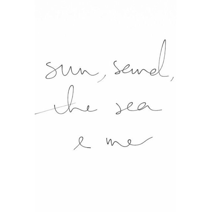 Sun, sand, the sea and me