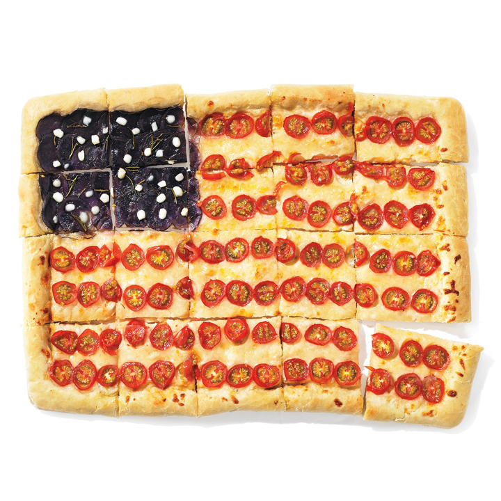 American Flag Pizza Pie