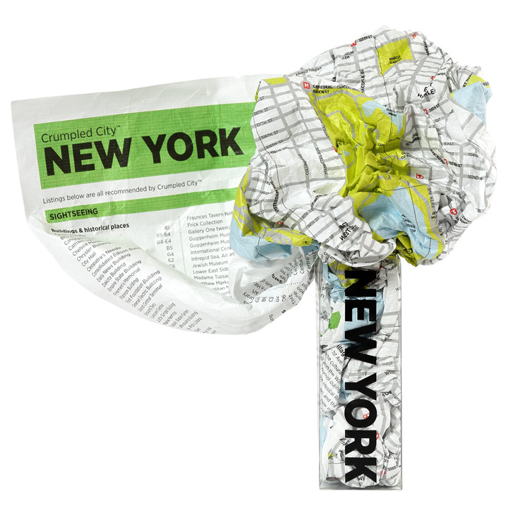 New York Crumpled City Map