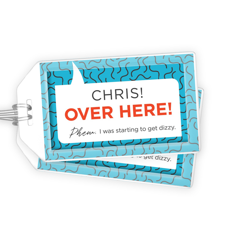 OVER HERE Luggage Tag