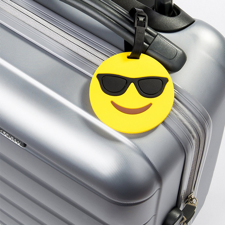 emoji luggage tag