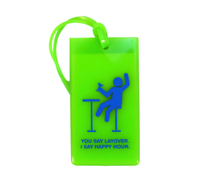 layover happy hour luggage tag