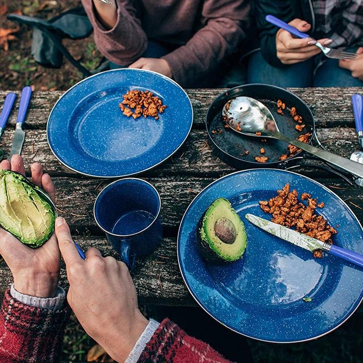 enamel camping dishes