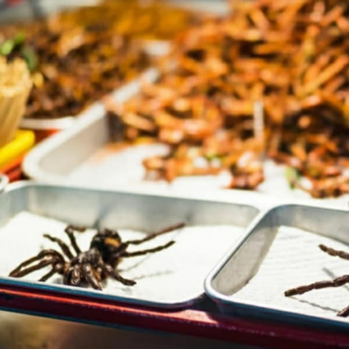 21 Most Exotic & Weird Foods In The World - Fried Spider