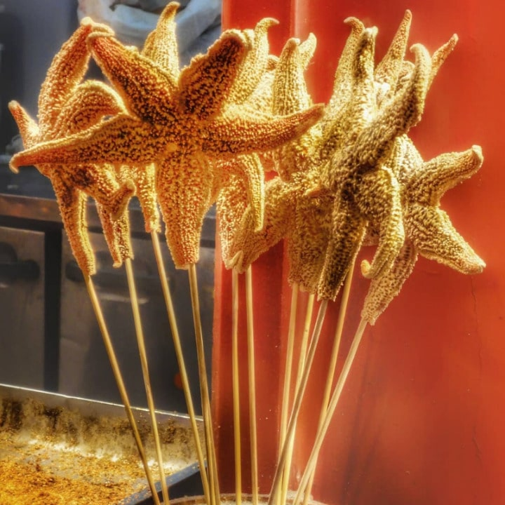 21 Most Exotic & Weird Foods In The World - Fried Starfish